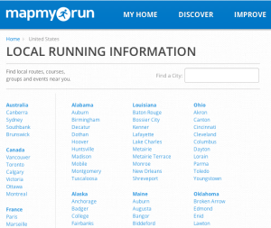 Discover running routes on MapMyRun.com