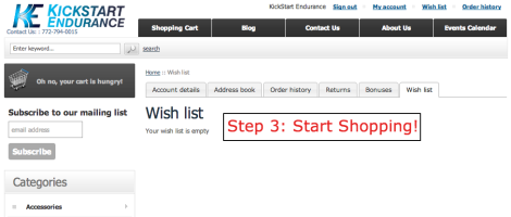 Step 3- Wish List