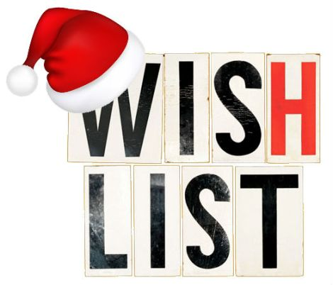 Wish list with hat